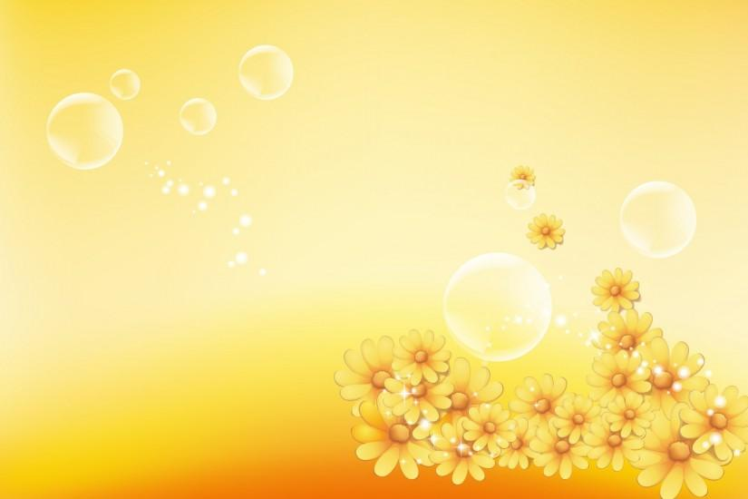 Yellow Floral Background - Wallpaper #34907