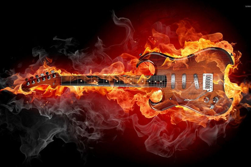 Glowing Guitar Wallpapers 4