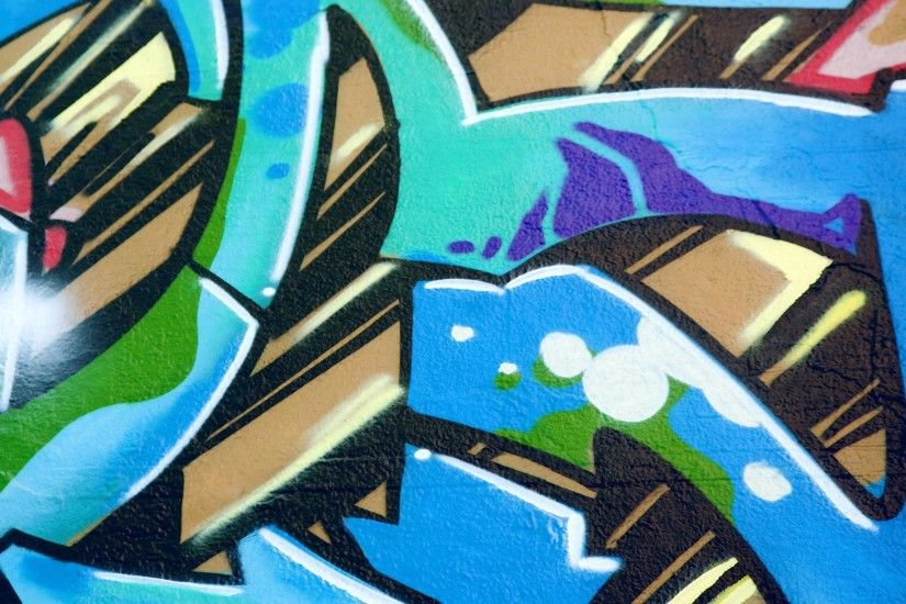 2048x1152 Preview wallpaper graffiti, wall, city, colorful 2048x1152