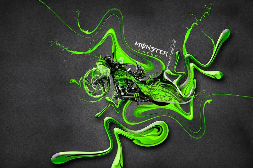 Attrayant Monster Energy Moto Chopper Fantasy Plastic Acid Mix