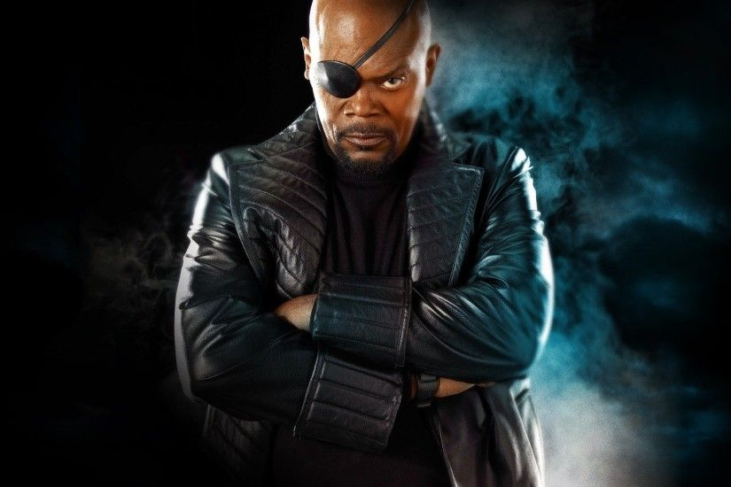 Samuel L. Jackson, Nick Fury, Eyepatches, Arms Crossed, Captain America: