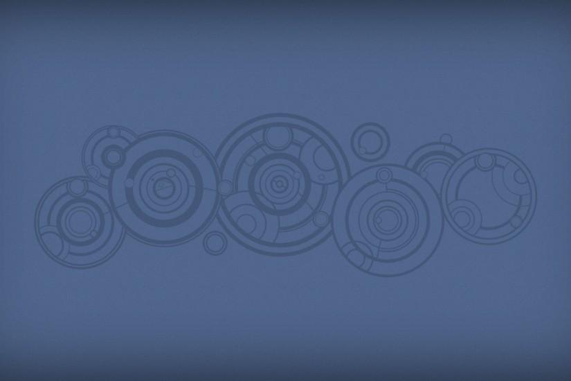 Circles on a blue background, the series Doctor Who
