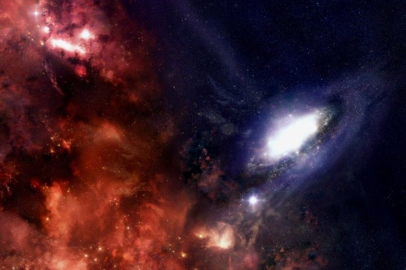 Preview wallpaper galaxy, stars, black holes, universe 2048x1152