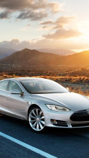Preview wallpaper tesla, model s, tesla model s, gray 1440x2560