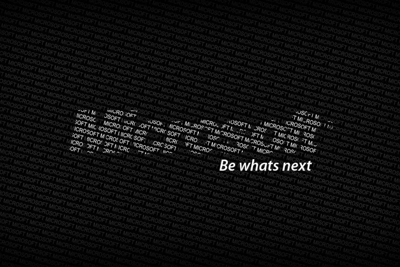 Preview wallpaper microsoft, logo, text, words, be whats next 1920x1080