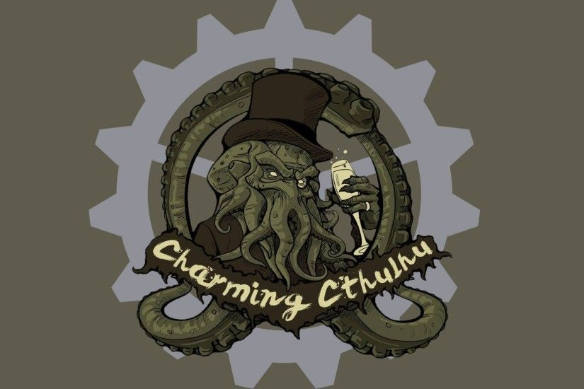 Fantasy art artwork monster creature octopus Cthulhu wallpaper .