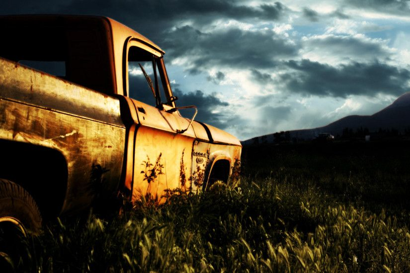 wallpaper.wiki-Rusty-Old-Car-Cool-Backgrounds-Wallpapers-