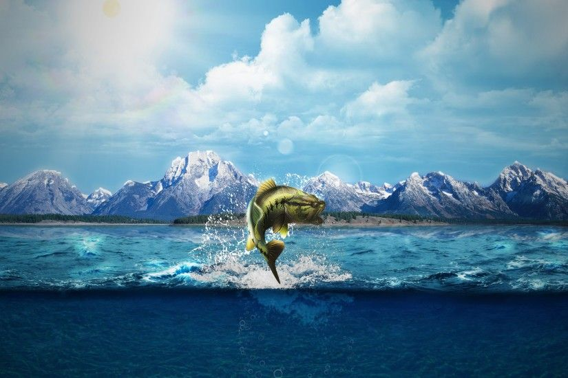 nature, Natural Lighting, Sea, Sea Monsters, Fish, Horizon, Deep Sea,  Mountain, Mount Everest, Word Clouds, Split View Wallpapers HD / Desktop  and Mobile ...
