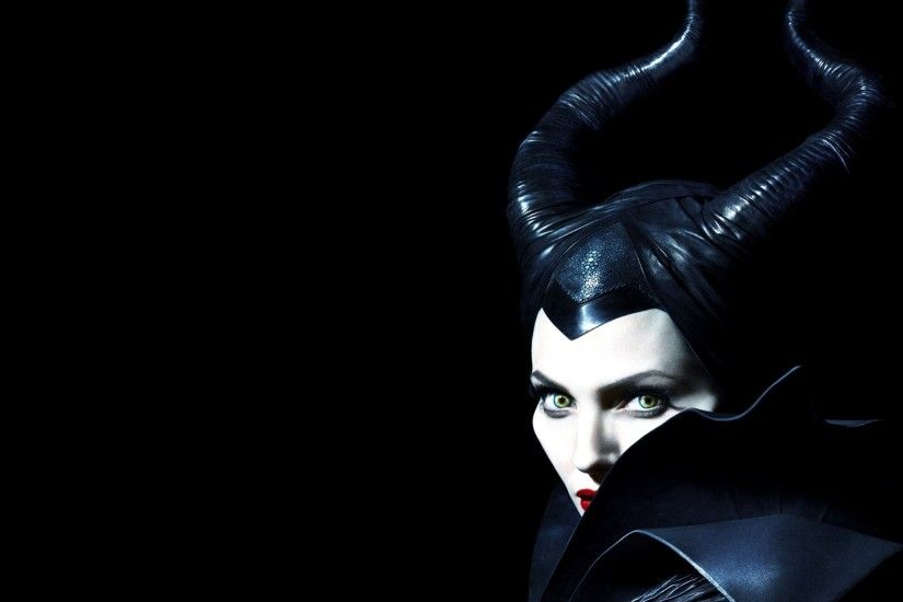 adventure celebrity actress magic black background views maleficent  angelina jolie fantasy