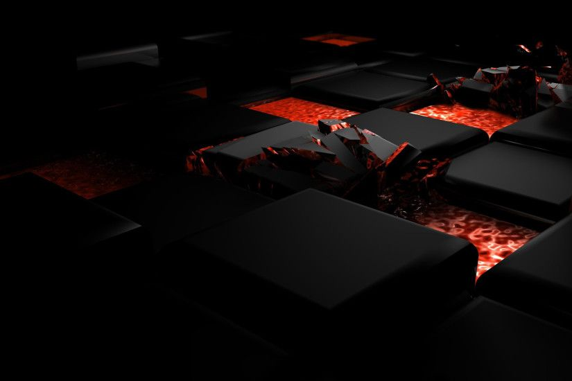 Preview wallpaper cube, fire, dark, light, alloy 2560x1440