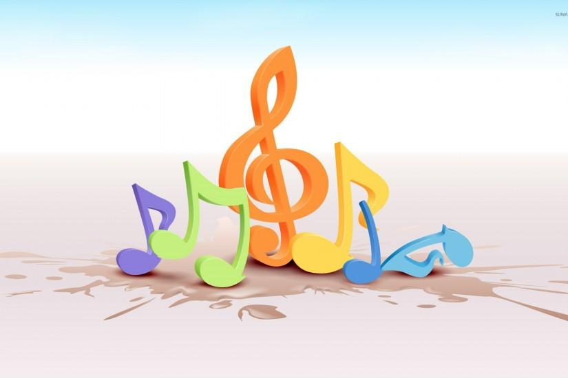widescreen music notes wallpaper 1920x1200 for retina
