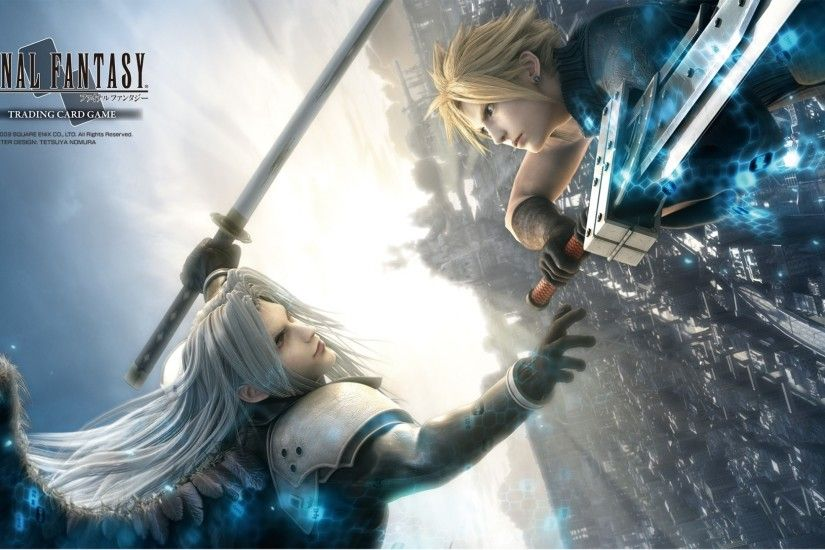Description Final Fantasy TCG Playmat-Final Fantasy VII Advent Children  Cloud/Sephiroth Flat size: x