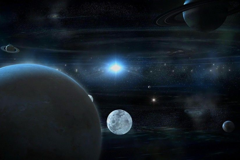 wallpaper unusual model of planetary system.