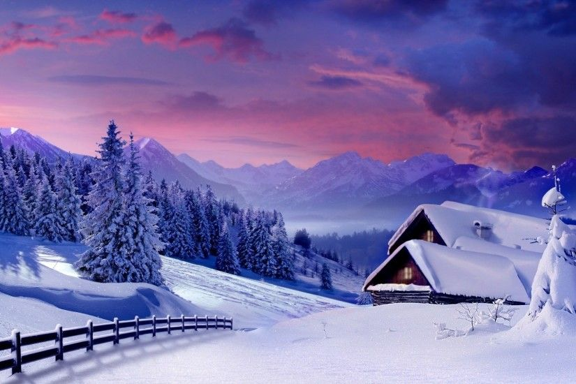 Home Tag - Nature Beauty Blue Architecture Cabins Fences Forests Beautiful  Cabin Sow Christmas Cold Tree