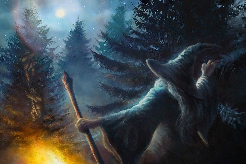 The Hobbit, Gandalf, Artwork, Fantasy Art Wallpaper HD