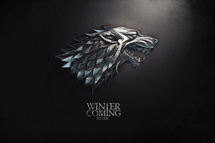 fantasy art Game of Thrones sigil TV series Winter is Coming direwolf HBO  George R. R. Martin