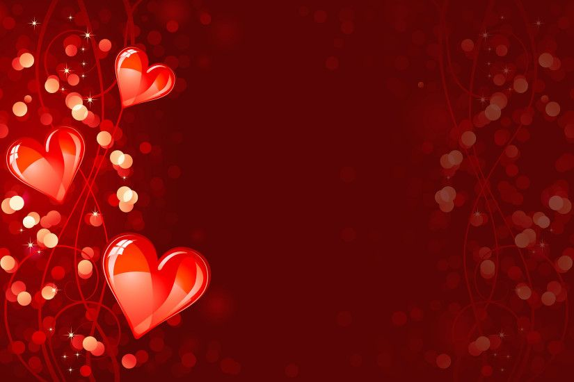 Shining red with valentines day background vector - Vector .
