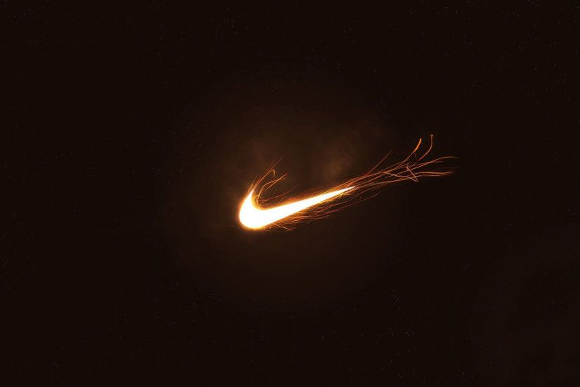 Fire Nike Logo Wallpaper Background Wallpaper