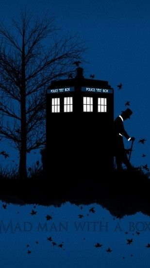 Doctor Who TARDIS artwork blue background leaves Free HQ and widescreen  wallpapers