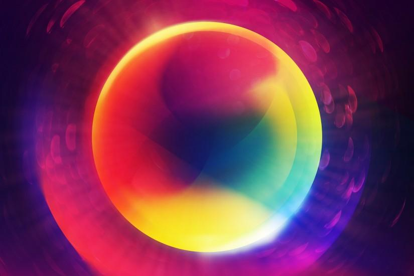 Colorful Glowing Orb 4K Ultra HD
