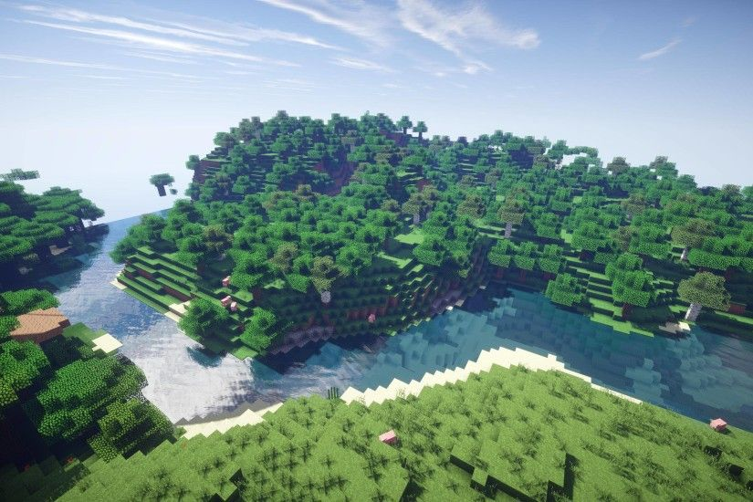Minecraft Day Background (HD 3200x1800) by 567legodude on DeviantArt