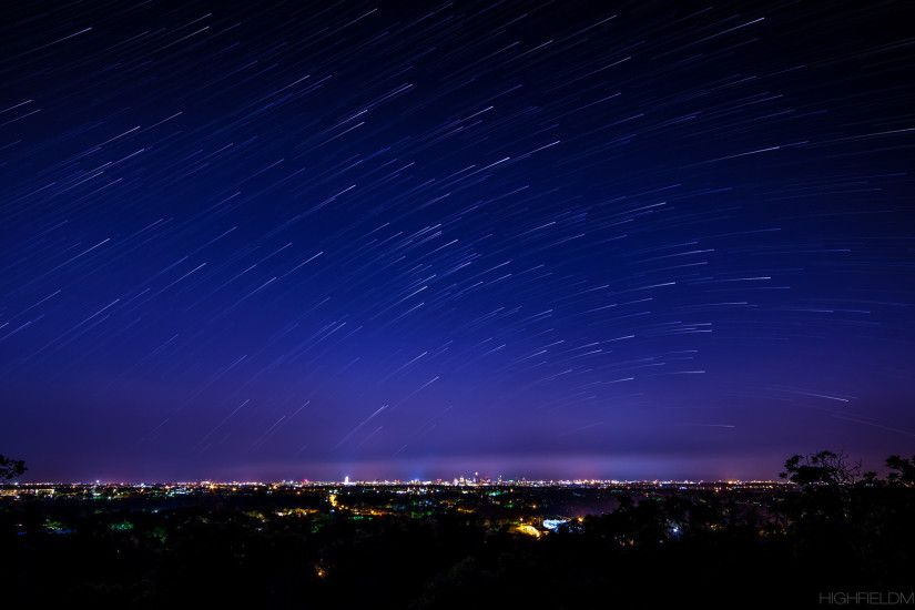 The meteor shower was a bust for me, so I shot some star trails from Mt.  Bonnell instead ...