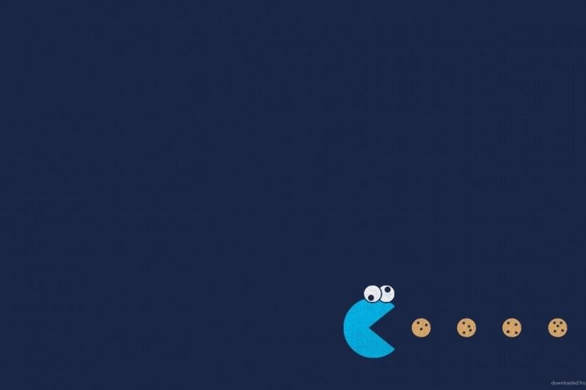 1366x768 Cookie Monster Pacman wallpaper