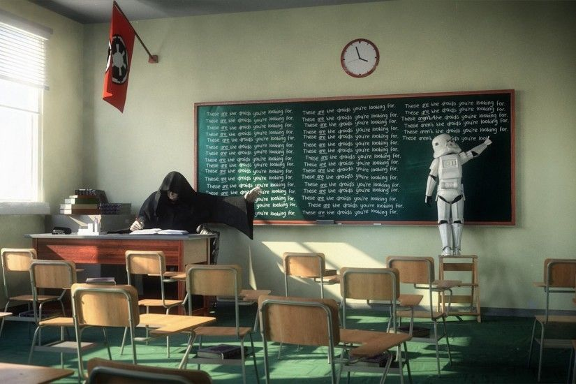 1920x1080 Sith, Clone Trooper, Classroom, Clocks, Star Wars, Humor  Wallpapers HD