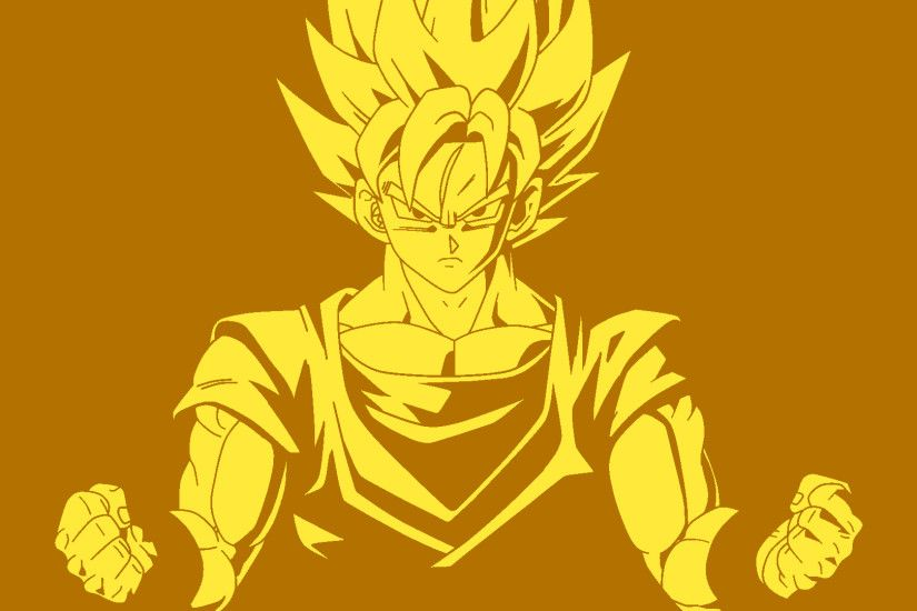 ... Super Saiyan Son Goku - Minimalist Wallpaper HD by oracionscruffy