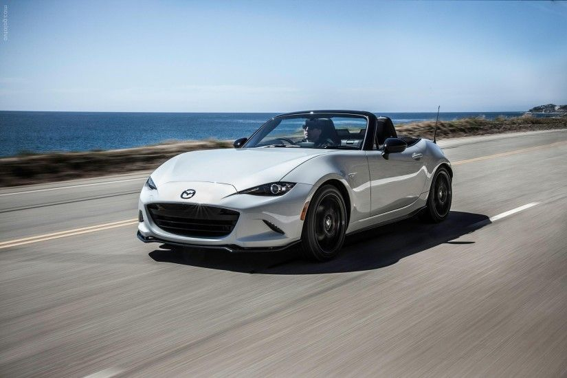 2016 Mazda MX-5 Miata white wallpaper High Resolution