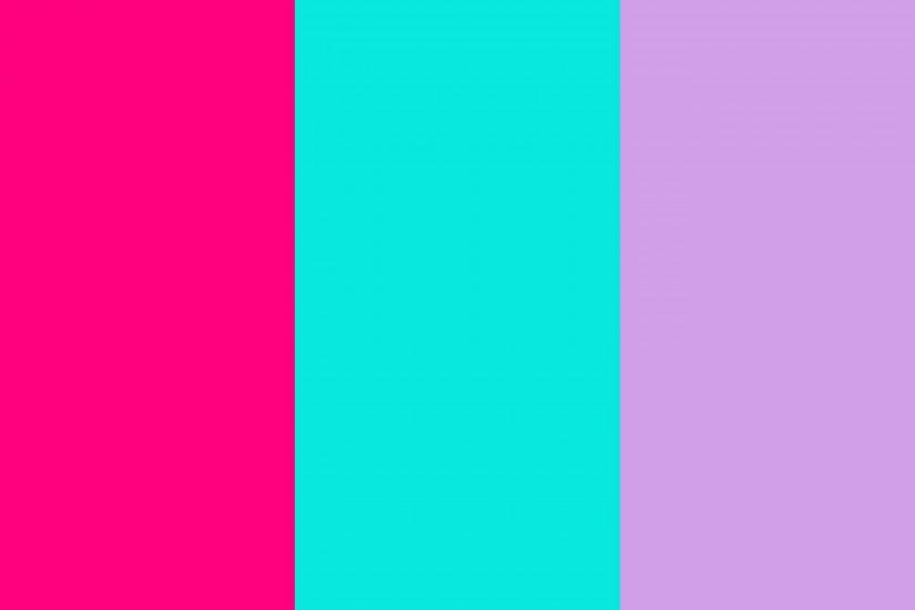 Bright Pink, Bright Turquoise and Bright Ube Three Color Background .