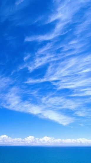 1080x1920 wallpaper sky blue white clouds tenderness