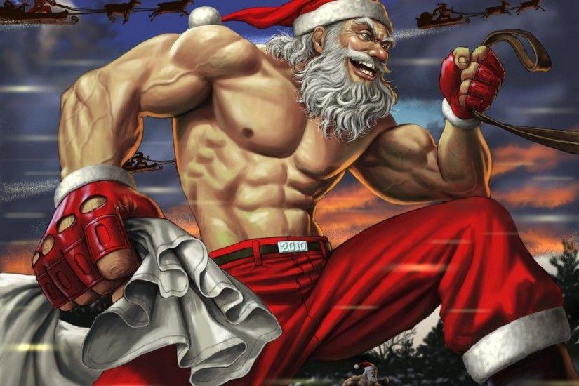 funny christmas santa claus wallpaper - Funny Christmas Wallpaper