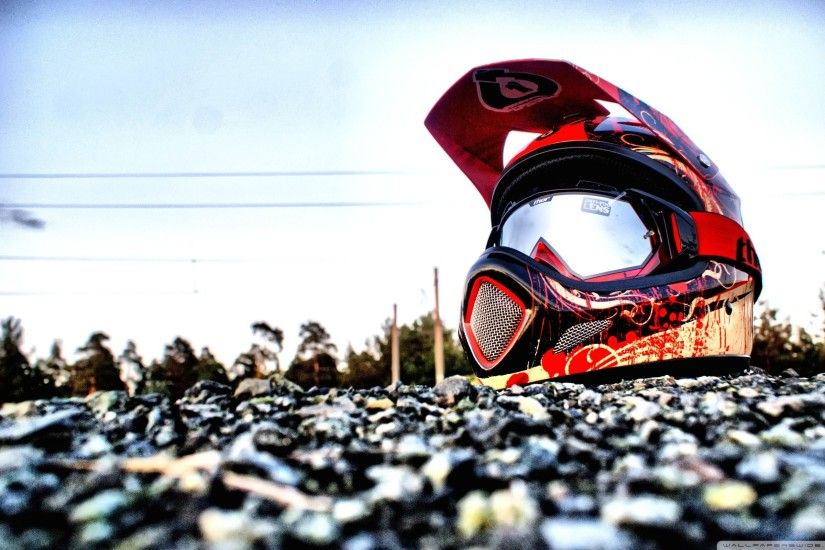 Downhill Biking Helmet HD Wide Wallpaper for Widescreen