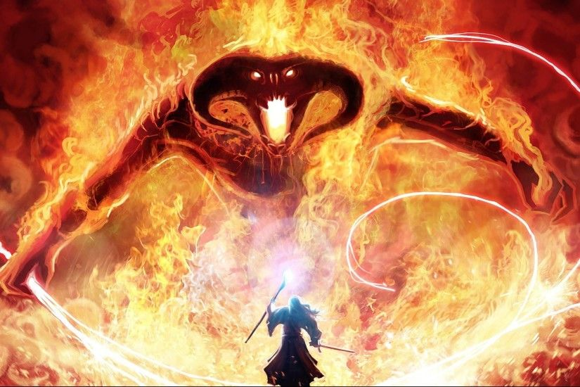 Gandalf and the Balrog HD Wallpaper | Download HD Wallpaper, High .