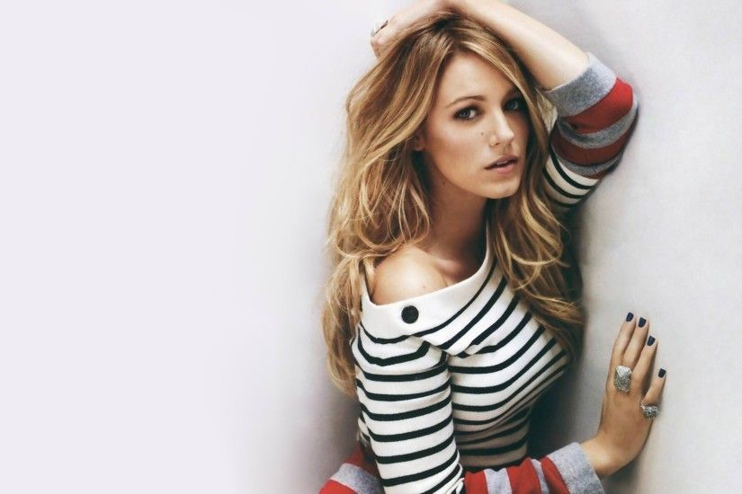 1920x1080 Wallpaper blake lively, dress, wall, blonde, look