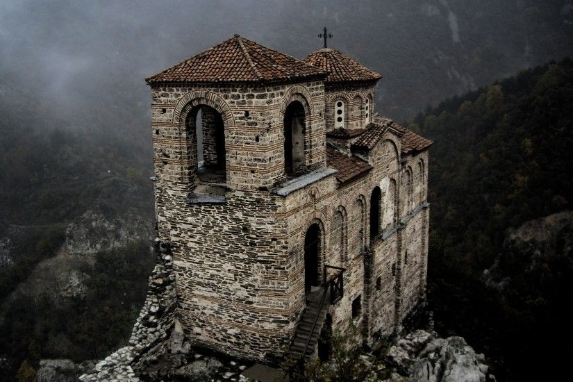 Religious - Church of the Holy Mother of God, Asen's Fortress Fortress  Castle Dark Wallpaper