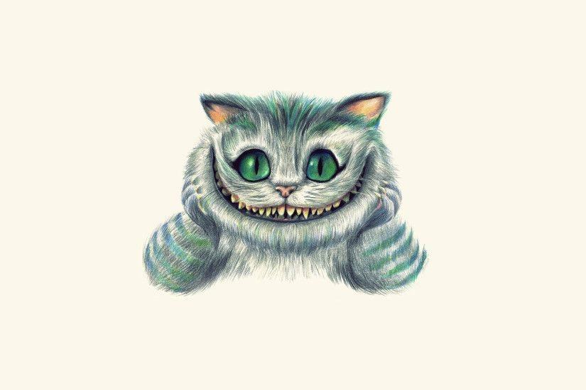 Image Alice in Wonderland Cheshire Cat Fantasy Movies White background  2560x1600