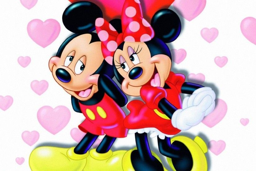 Mickey Mouse And Minnie Mouse In Love Wallpaper #1676 | Foolhardi.