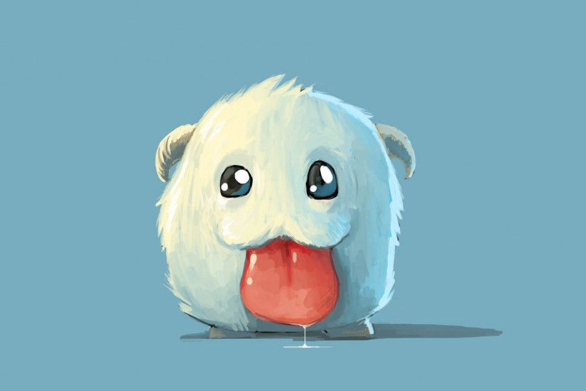 1920x1080 Wallpaper league of legends, poro, art, tongue