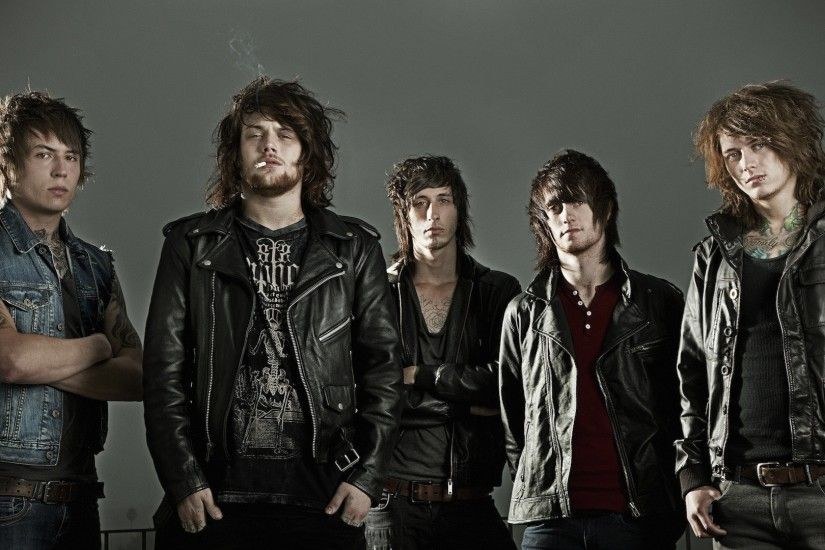 Preview wallpaper asking alexandria, band, tattoo, haircuts, rockers  1920x1080