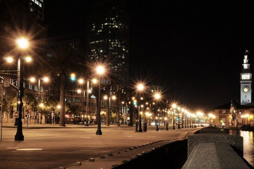 Download Wallpaper 1920x1080 Usa, City, America, Night, Lights .