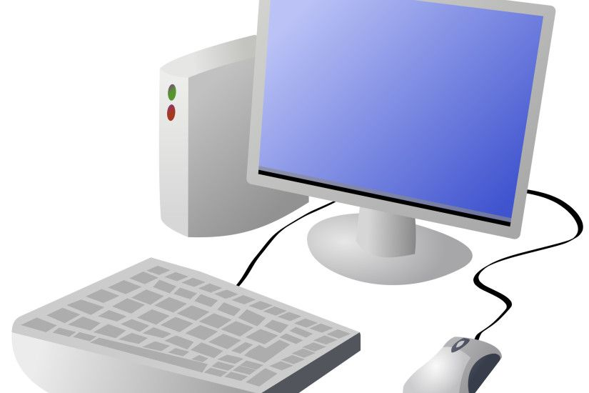 Cartoon Computer and Desktop