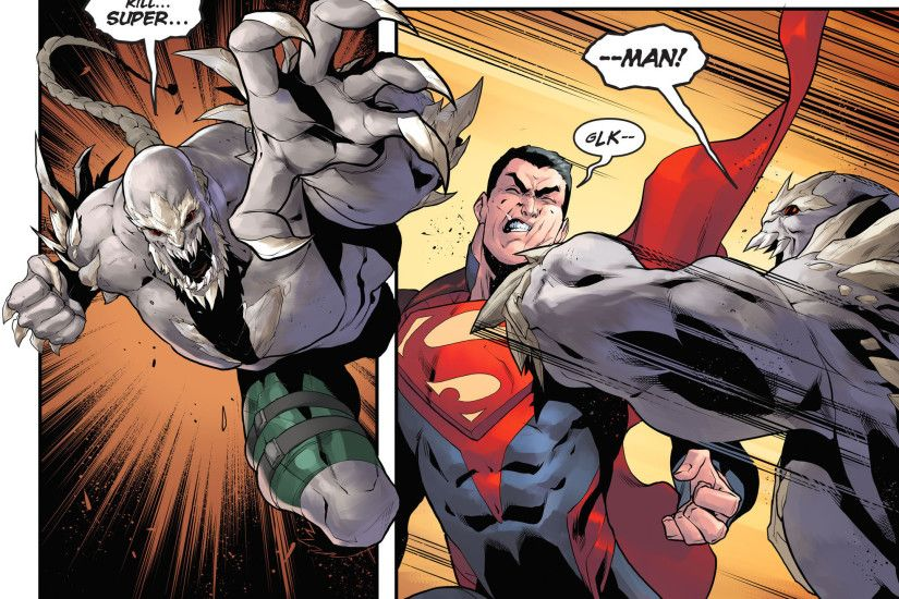 Gallery For > Superman Vs Doomsday Comic