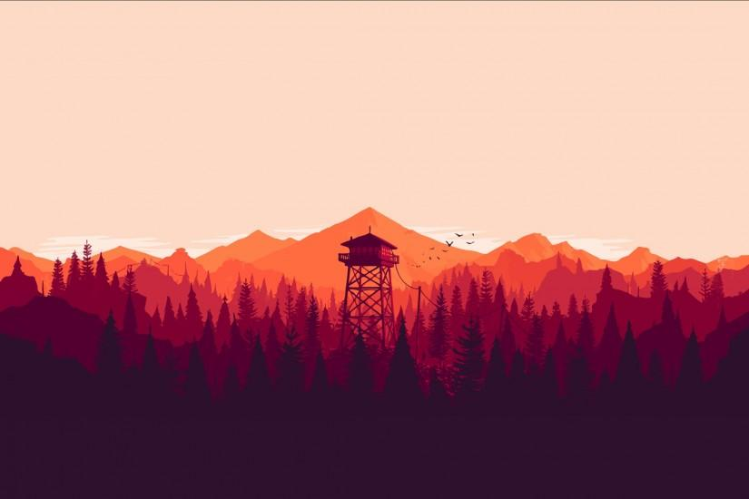 Firewatch- Anyone know where I could fine more like this? [2560x1440] ...
