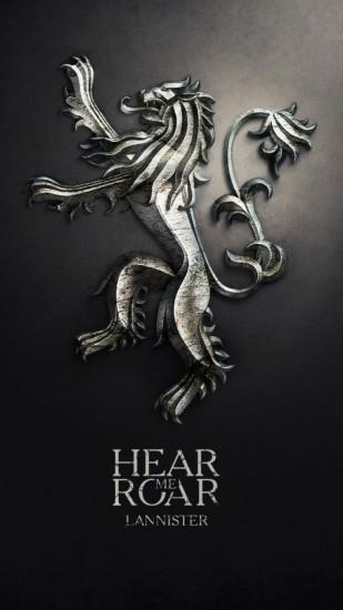 Game of Thrones Lion · Hear me roar Lannister