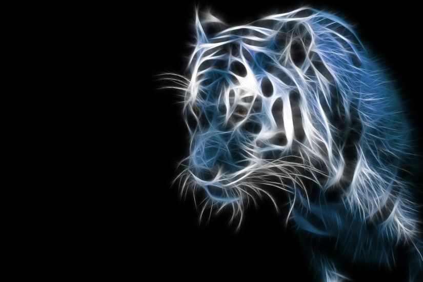 Blue Flame Tiger · flame 815050