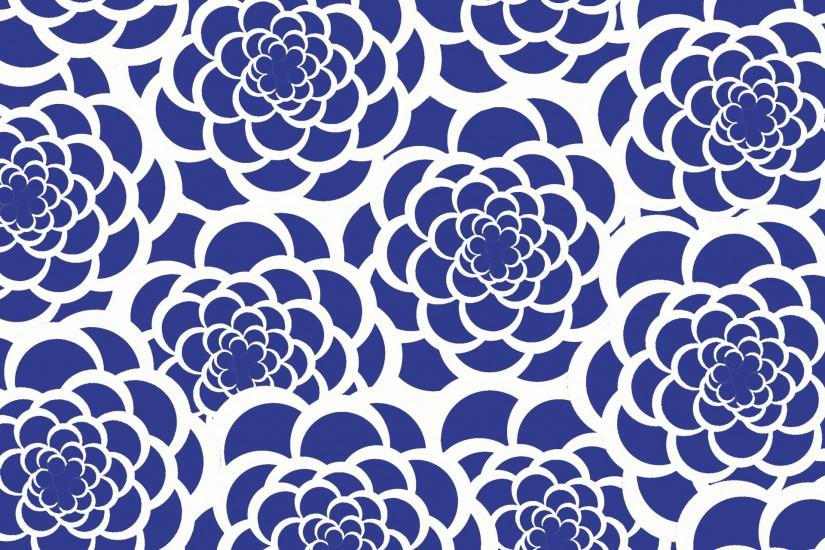 Blue & White Flower Background