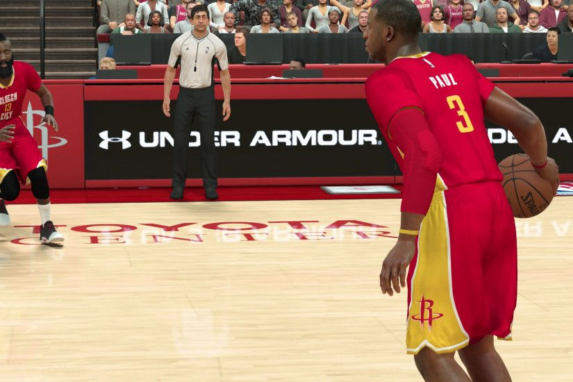 NBA 2K17 Chris Paul James Harden Rockets