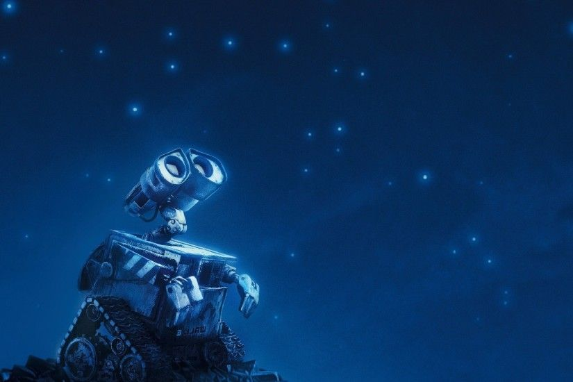 WALL·E, Pixar Animation Studios, Robot, Movies, Stars, Night Wallpapers HD  / Desktop and Mobile Backgrounds